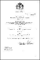 Udělovací listina pro znak a prapor obce