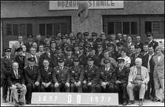 80 let hasičského sboru v Pustějově - před stanicí