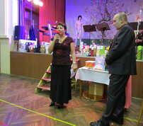 Liduška Tisovská zahajuje vyhlašování vítězů soutěže Sportovní pár roku 2015